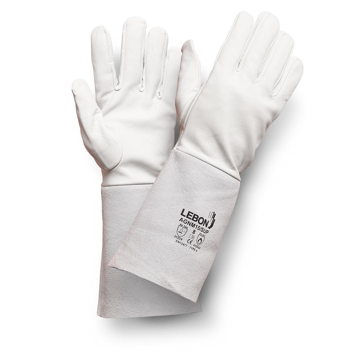 Gants de soudeur en cuir Argon AGNM15/SUP Lebon Protection