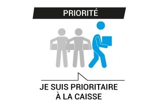 Priorité en caisse