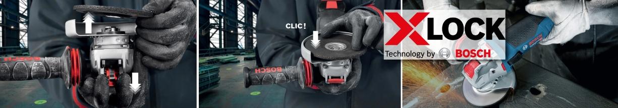 Bosch X lock meuleuses