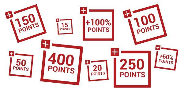Points de fidélité bonus