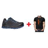 Chaussure de sécurité basse k-road + un tee-shirt noir Kaptiv offert