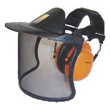 Visière et casque antibruit spécial forestier V40