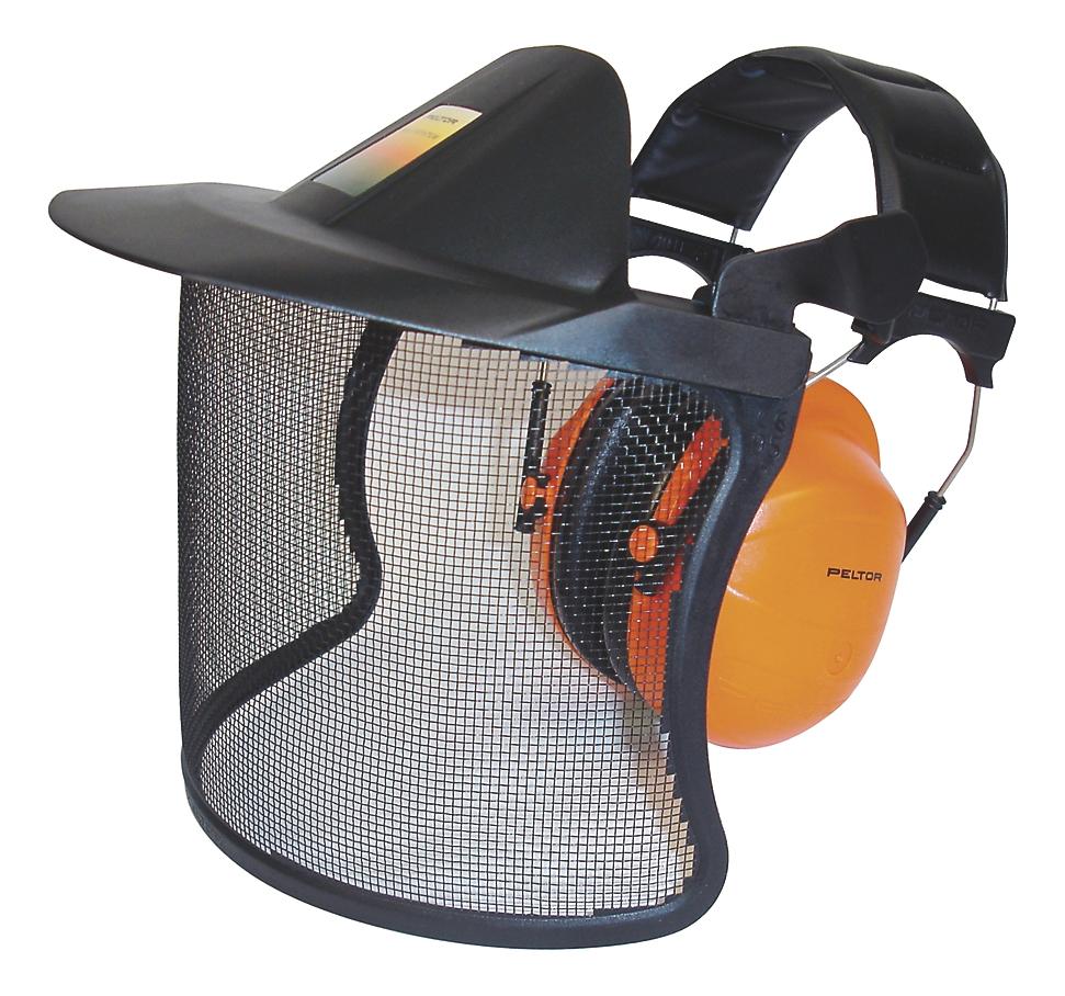 Visière et casque antibruit spécial forestier V40 3M Protection