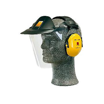 Visière et casque antibruit spécial industrie V40 3M Protection