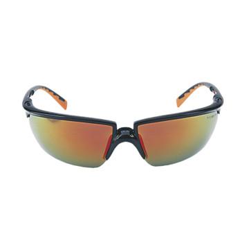 Lunettes de protection Solus miroitées rouge monture noire/orange 3M Protection