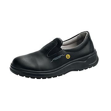 Chaussures de sécurité ESD type mocassin cuir noir S2 Abeba