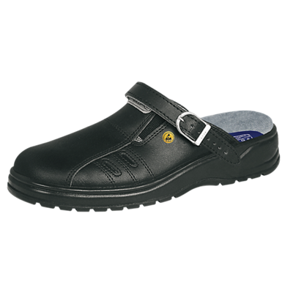 Sabots cuir noir ESD 31042 Abeba