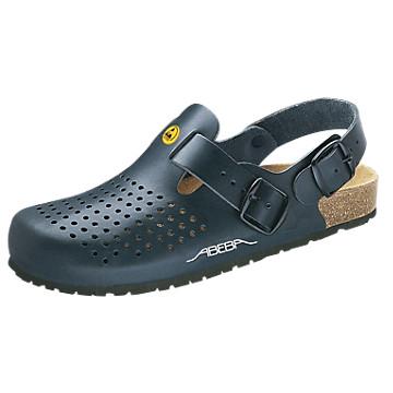 Sandales de travail noires ESD Abeba