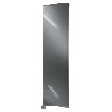 Radiateur Altima horizontal à ailettes finition Inox