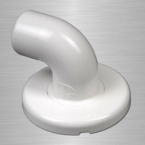 Coude de départ Ø 32 mm lisse aluminium nylon AKW