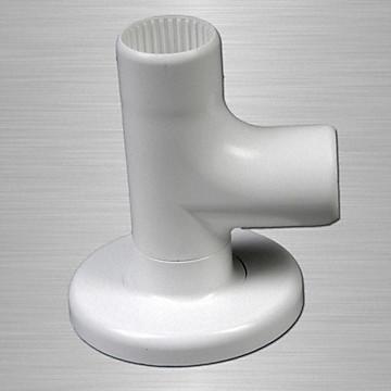 Coude à 90° Ø 32 mm lisse en aluminium nylon Akw