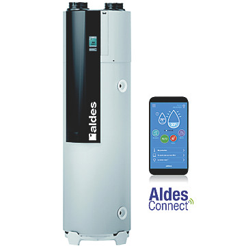 Chauffe-eau thermodynamique B200 FAN T.FLOW Hygro+ Aldes