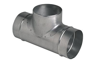 Té à 90° en acier galvanisé