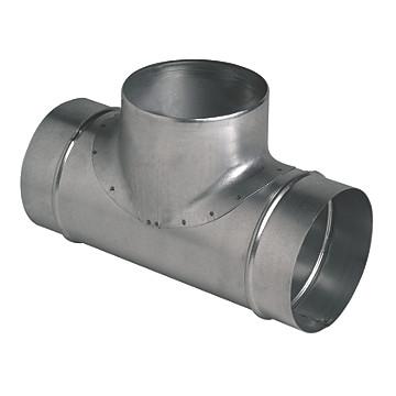 Té à 90° réduit en acier galvanisé Aldes