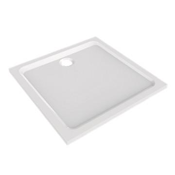 Receveur Prima Style extra-plat carré à poser ou à encastrer - Blanc Allia