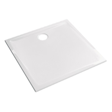 Receveur Prima extra-plat carré à poser ou à encastrer Allia