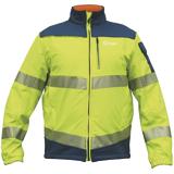 Softshell homme haute visibilité jaune/bleu roy M0002470 EDF