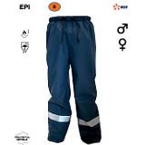 Pantalon de pluie retard-flamme marine EDF