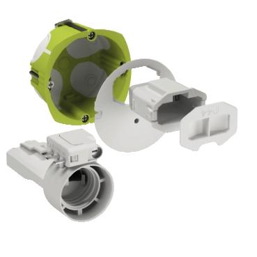 Kit d'applique Multifixair cloison sèche Ø 67 Schneider Electric