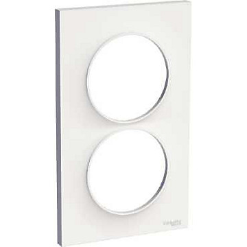 Odace Styl - Plaque 2 postes Schneider Electric