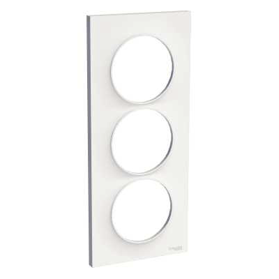 Odace Styl - Plaque 3 postes Schneider Electric