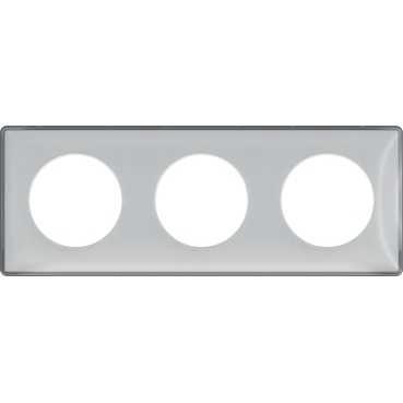 Odace You - Plaque 3 postes Schneider Electric