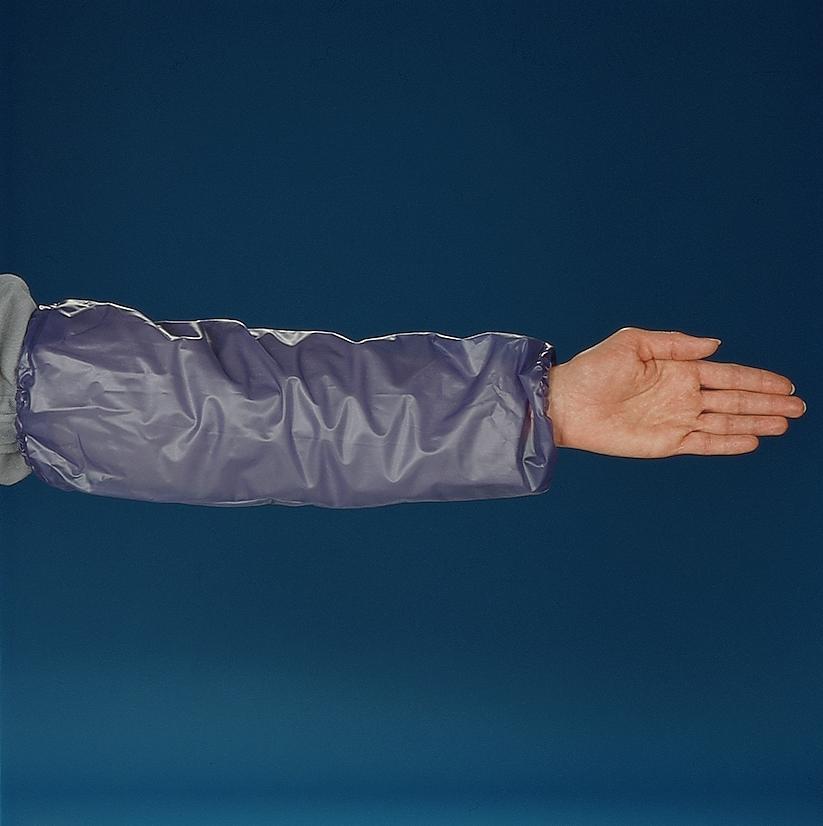 Manchettes en vinyle bleu VSB-HS Ansell