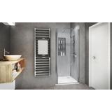 Porte de douche Ixia pivotante accès de face profil silver verre transparent