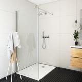 Paroi de douche Pyra solution ouverte pour montage seul