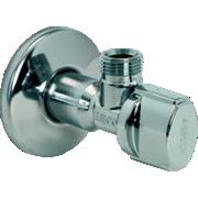 Robinet d'arrêt équerre sans écrou - axe de 45 mm