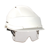 Casque de chantier Iris blanc avec porte-badge