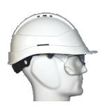 Casques de chantier Kara avec lunettes