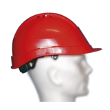 Casque de chantier Kara rouge