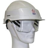 Casque IRIS 2 Blanc coiffe textile sans aération 0271SCE + LOGO EDF