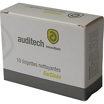 Lingettes nettoyantes Earclean pour bouchons moulés Auditech