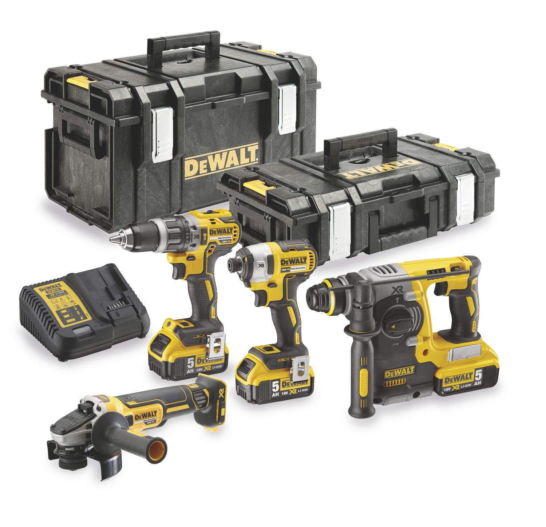 Pack de 4 outils sans fil 18V DCG405 + DCH273 + DCD796 + DCF887 Dewalt