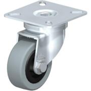 Roulette d'appareil pivotante caoutchouc