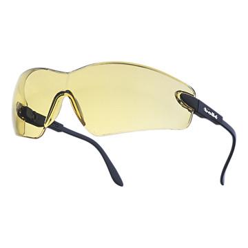 Lunettes de protection Viper jaunes monture bleue électrique Bollé Safety