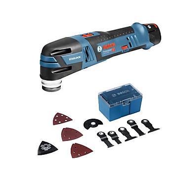 Découpeur ponceur GOP 12V-LI + 12 accessoires Bosch Professional
