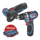 Kit sans fil 12V - GSR et GWS avec mallette d'outils