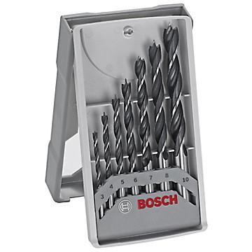 Coffret de 7 mèches à bois hélicoïdales Bosch Professional