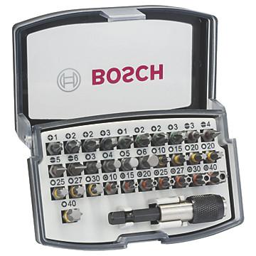 Embouts de vissage + 1 porte-embouts en coffret Bosch