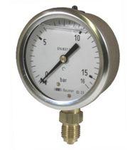 Manomètre Ø 63mm 1/4'' vertical à bain d'huile