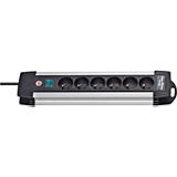 Prolongateur multiprise Premium-Alu-Line 6 prises