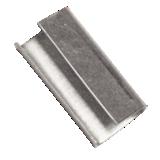 Chape ouverte pour feuillard polypropylène