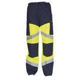 Pantalon Silvertech 260 jaune fluo/marine