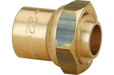 Raccord 2 pièces droit à braser pour tube cuivre JPG