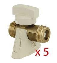 Lot de 5 robinets de sécurité gaz (ROAI)