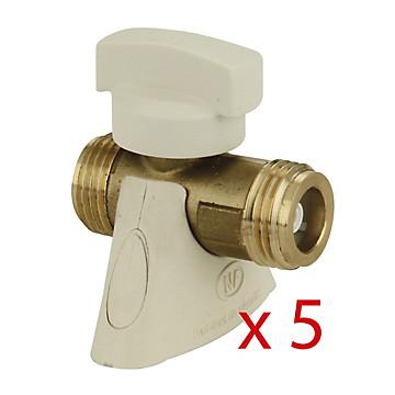 Lot de 5 robinets de sécurité gaz (ROAI) Chuchu Decayeux