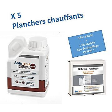 5 bidons Solutech planchers chauffants + 1 kit d'analyse offert Cillit